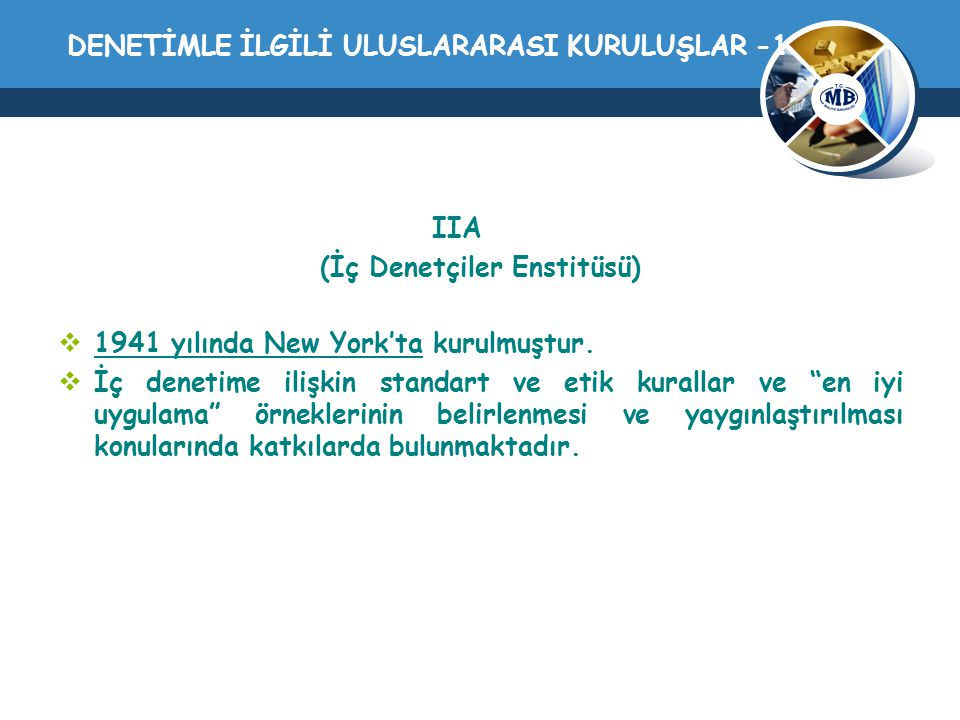 DENETİMLE İLGİLİ ULUSLARARASI KURULUŞLAR -1