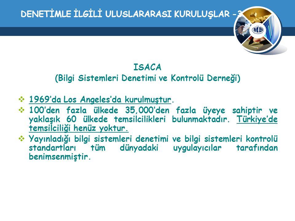 DENETİMLE İLGİLİ ULUSLARARASI KURULUŞLAR -3