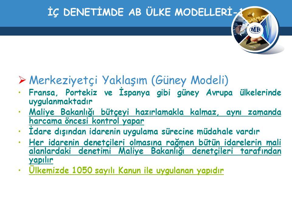 İÇ DENETİMDE AB ÜLKE MODELLERİ-1