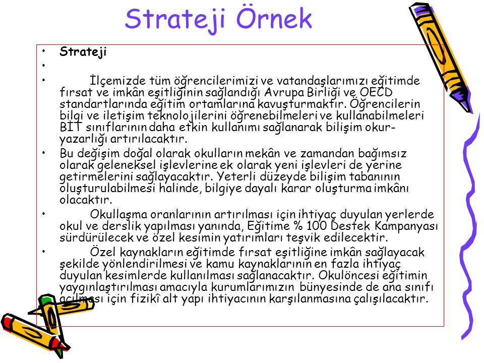 Strateji Örnek Strateji