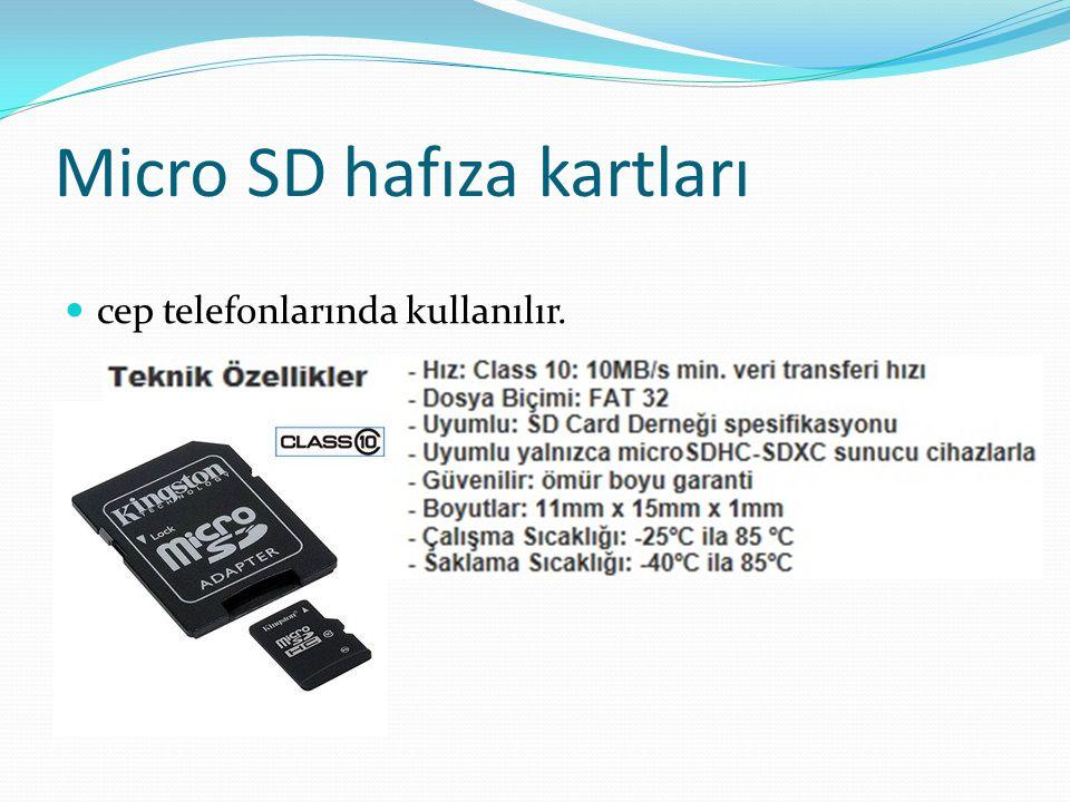 Micro SD hafıza kartları