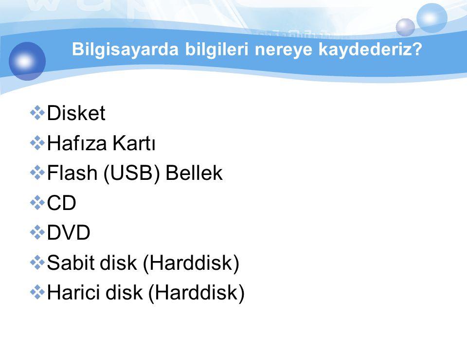 Harici disk (Harddisk)
