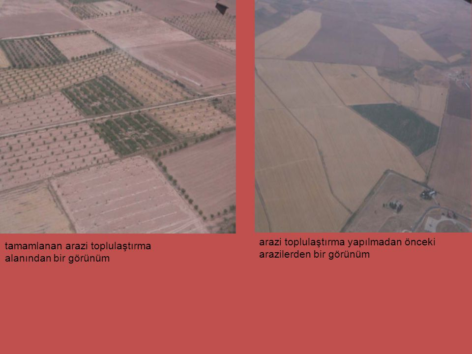 arazi toplulaştırma yapılmadan önceki arazilerden bir görünüm