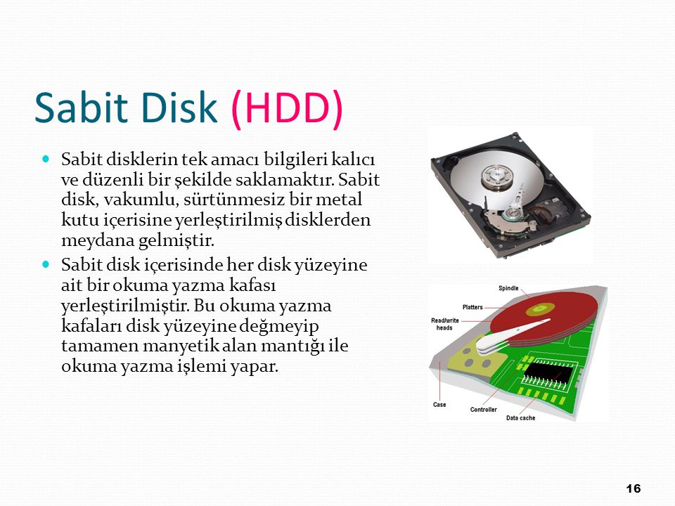 Sabit Disk (HDD)