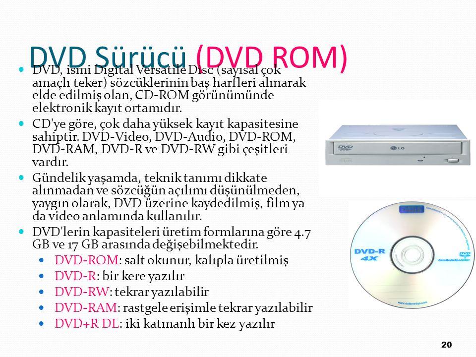DVD Sürücü (DVD ROM)