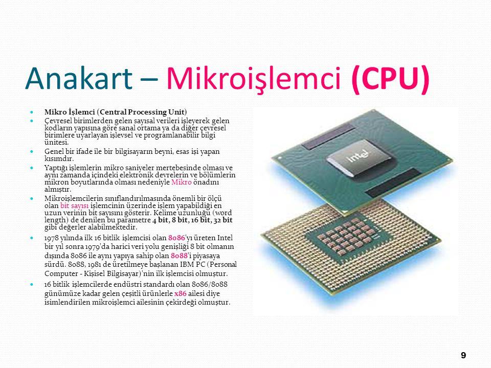 Anakart – Mikroişlemci (CPU)