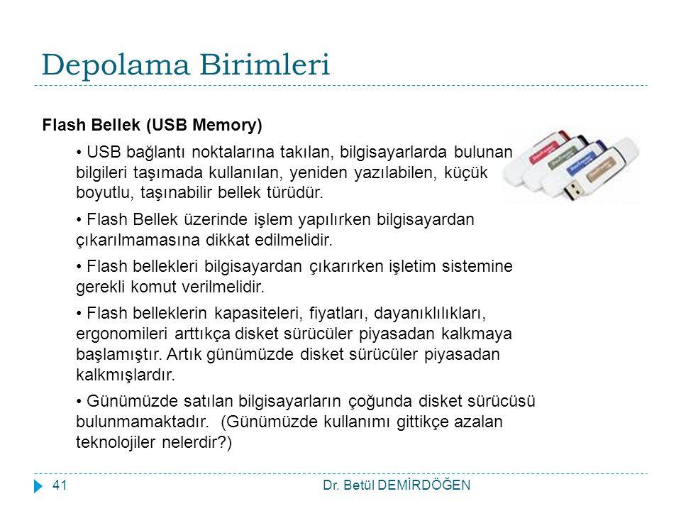 Depolama Birimleri Flash Bellek (USB Memory)