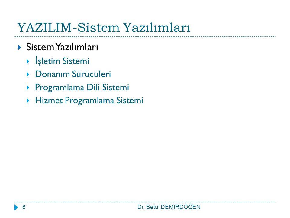YAZILIM-Sistem Yazılımları