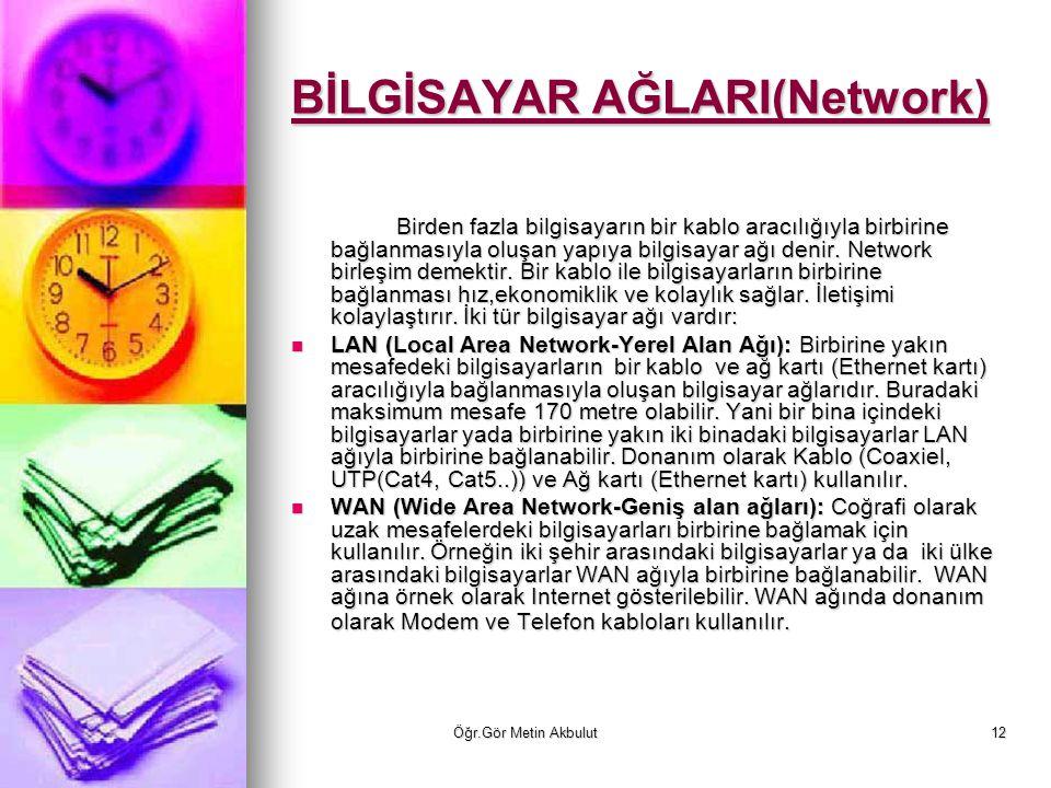 BİLGİSAYAR AĞLARI(Network)