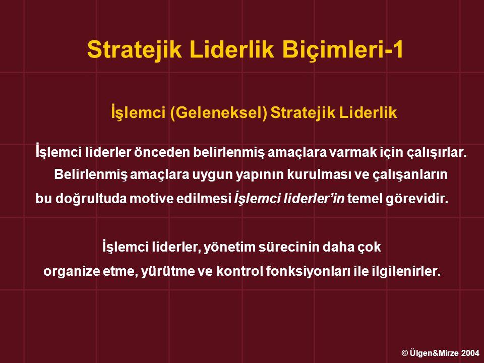 Stratejik Liderlik Biçimleri-1