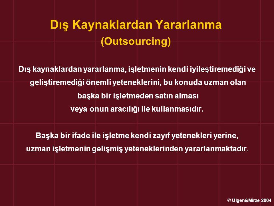 Dış Kaynaklardan Yararlanma (Outsourcing)