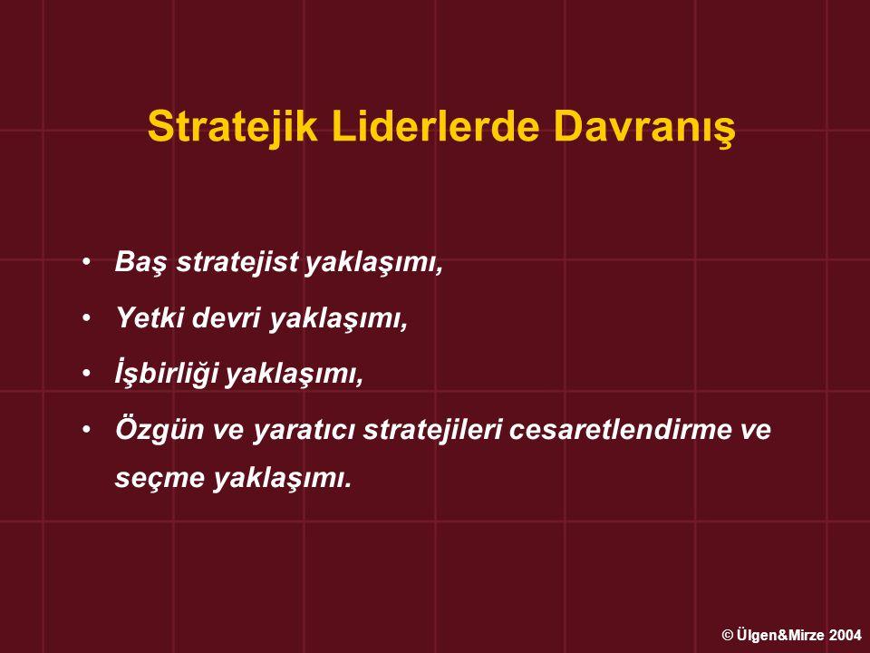 Stratejik Liderlerde Davranış