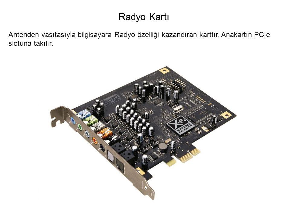 Radyo Kartı Antenden vasıtasıyla bilgisayara Radyo özelliği kazandıran karttır.
