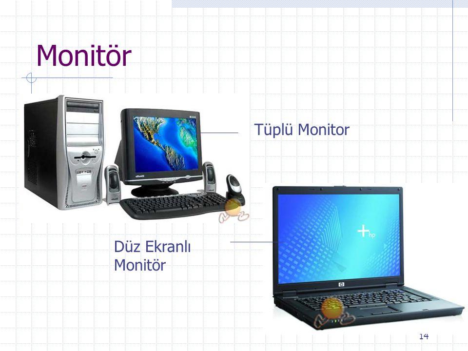Monitör Tüplü Monitor Düz Ekranlı Monitör