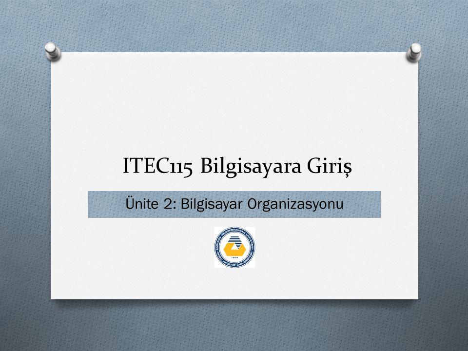 ITEC115 Bilgisayara Giriş