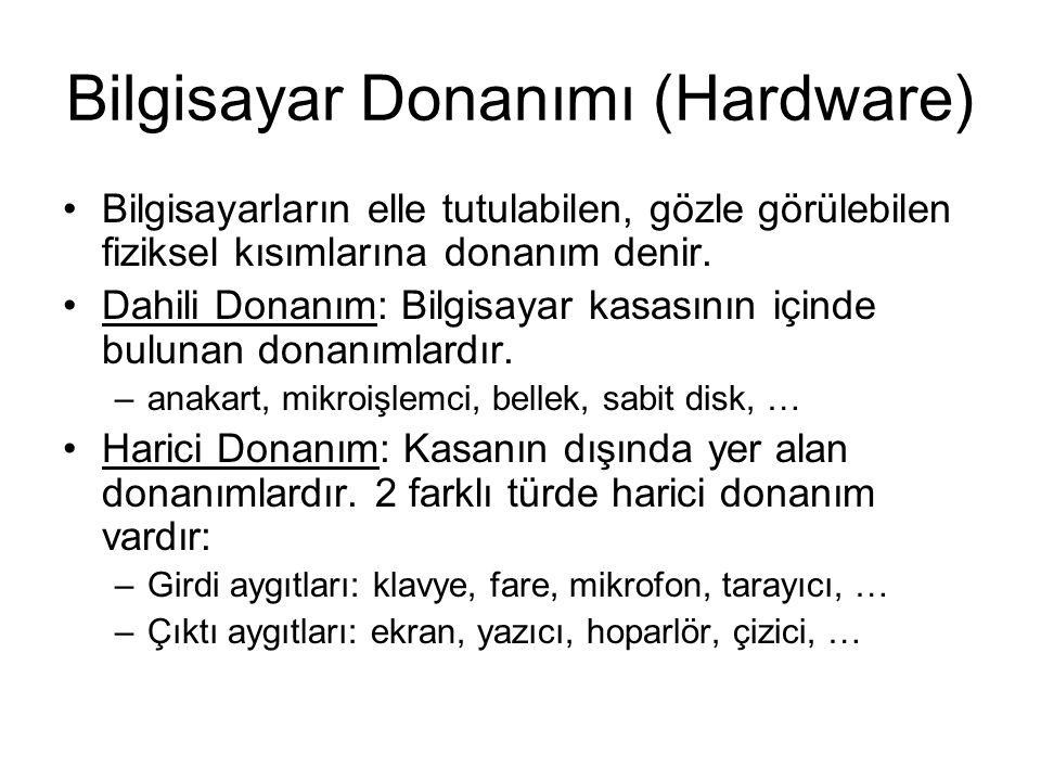 Bilgisayar Donanımı (Hardware)