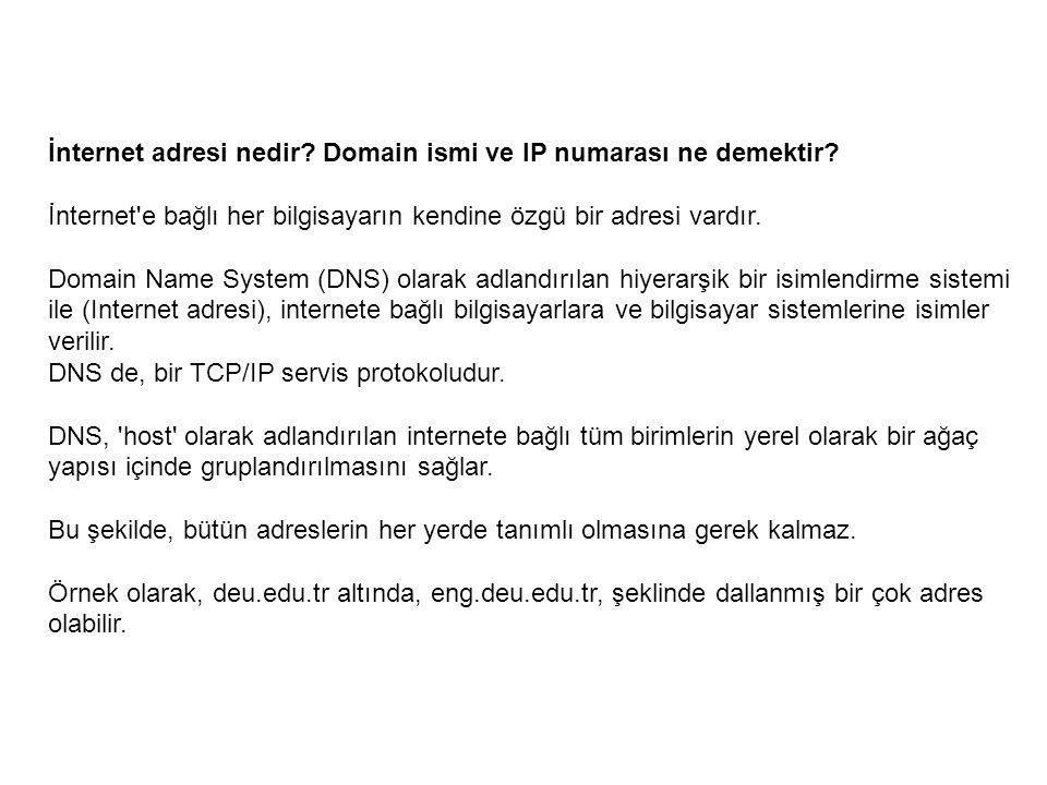 İnternet adresi nedir Domain ismi ve IP numarası ne demektir
