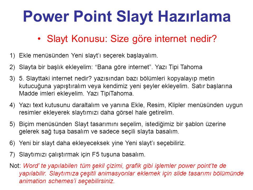 Power Point Slayt Hazırlama