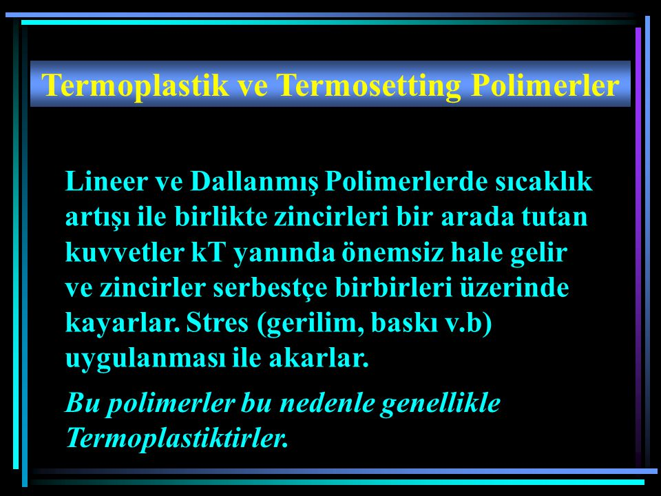 Termoplastik ve Termosetting Polimerler