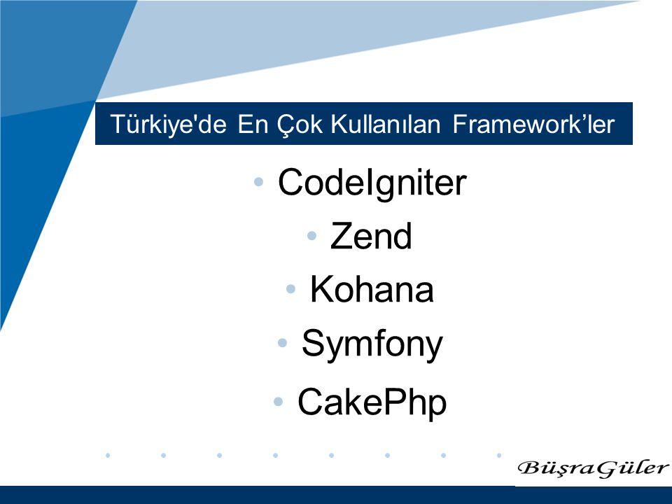 Türkiye de En Çok Kullanılan Framework'ler