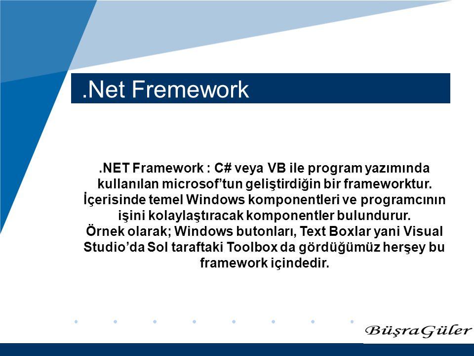 .Net Fremework
