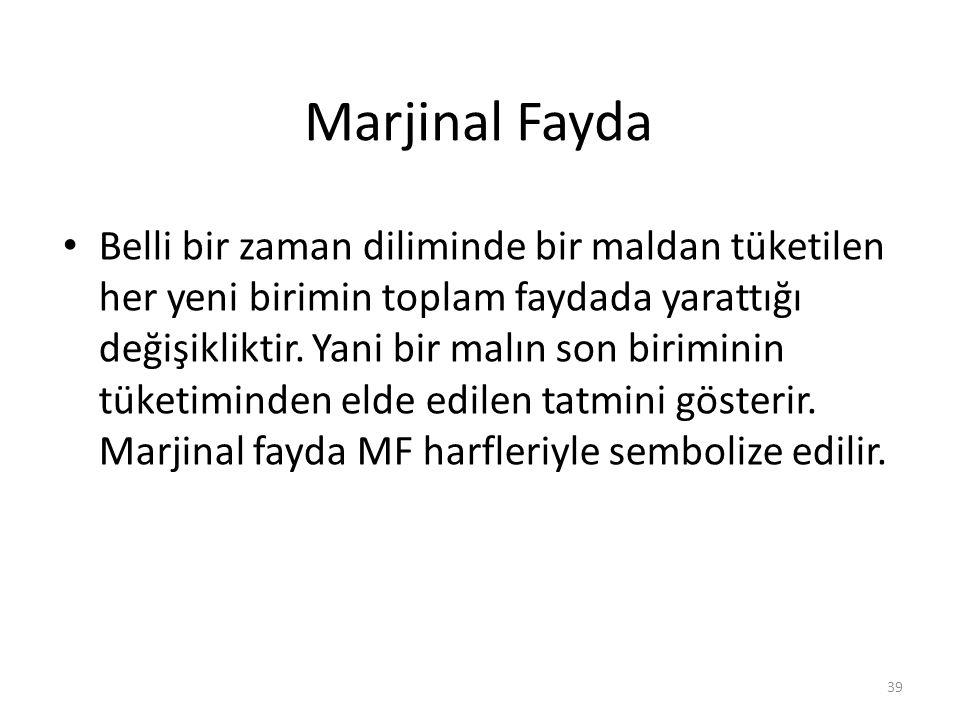 Marjinal Fayda