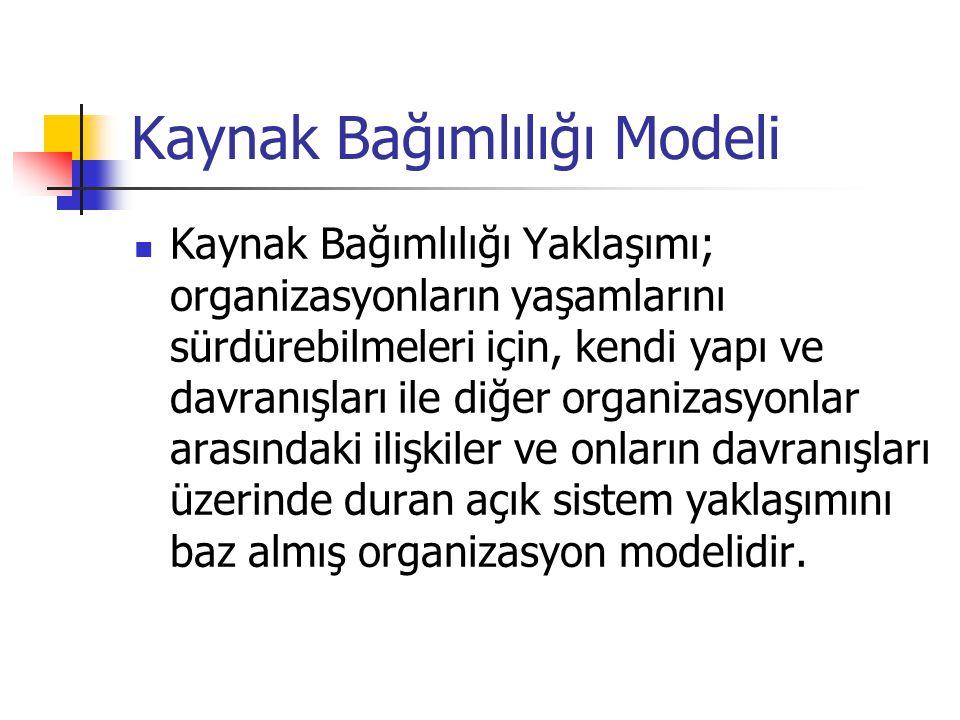 Kaynak Bağımlılığı Modeli