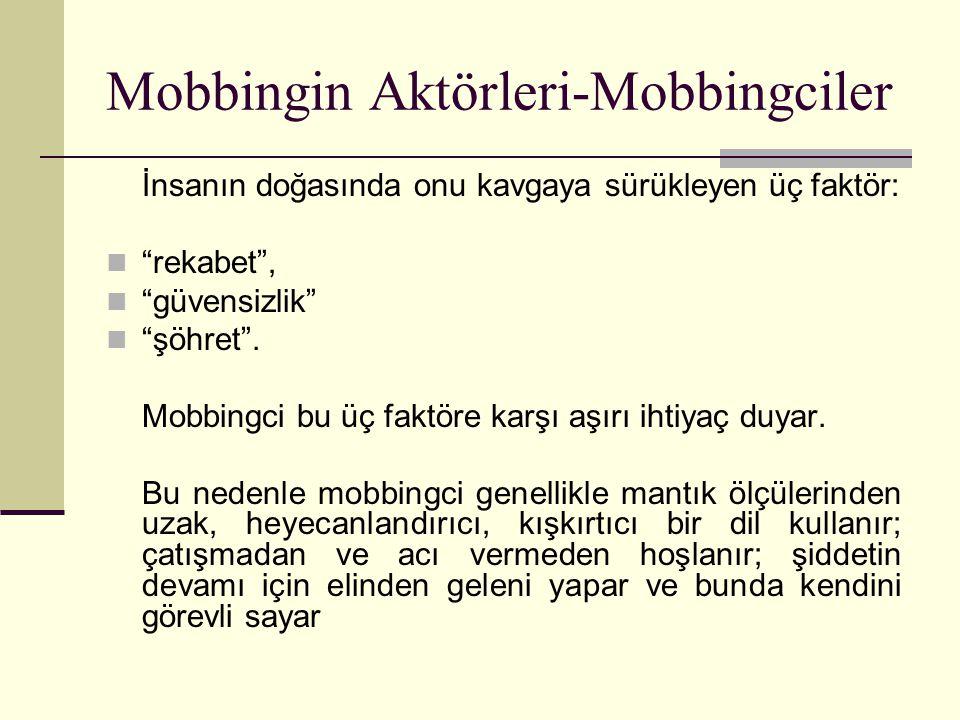 Mobbingin Aktörleri-Mobbingciler