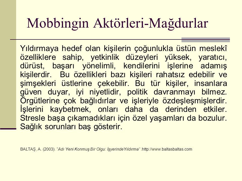 Mobbingin Aktörleri-Mağdurlar