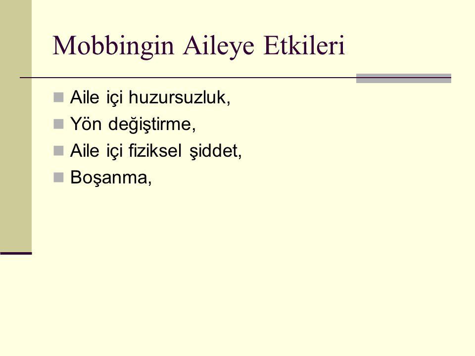 Mobbingin Aileye Etkileri