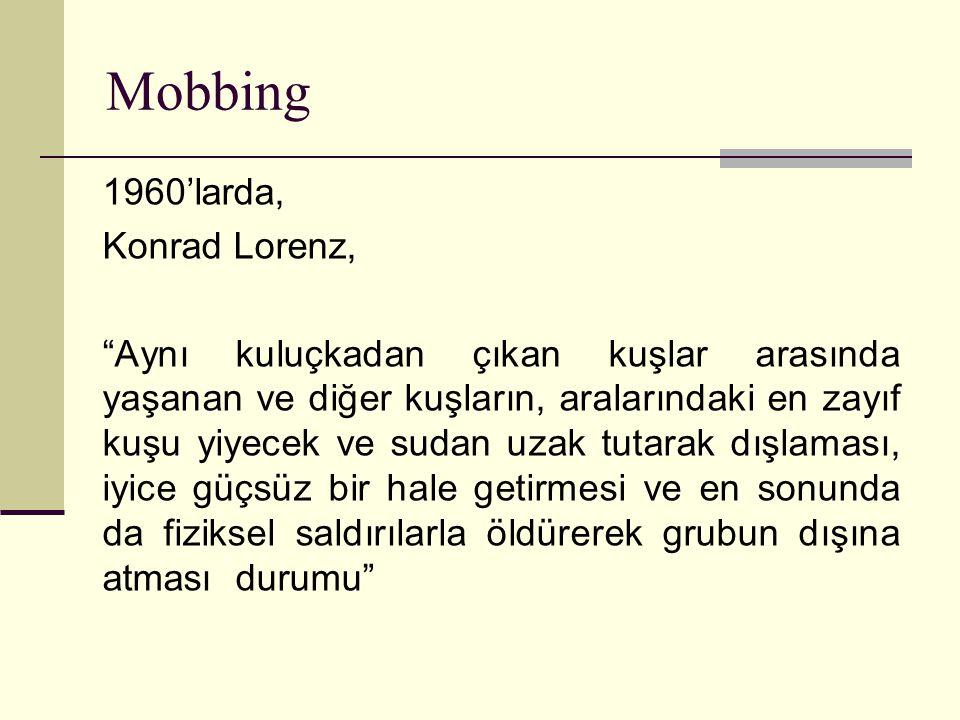 Mobbing 1960'larda, Konrad Lorenz,