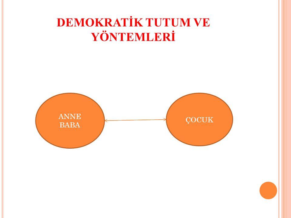 DEMOKRATİK TUTUM VE YÖNTEMLERİ