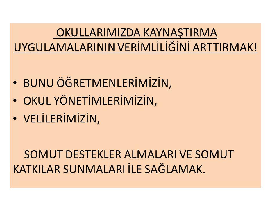 OKULLARIMIZDA KAYNAŞTIRMA UYGULAMALARININ VERİMLİLİĞİNİ ARTTIRMAK!