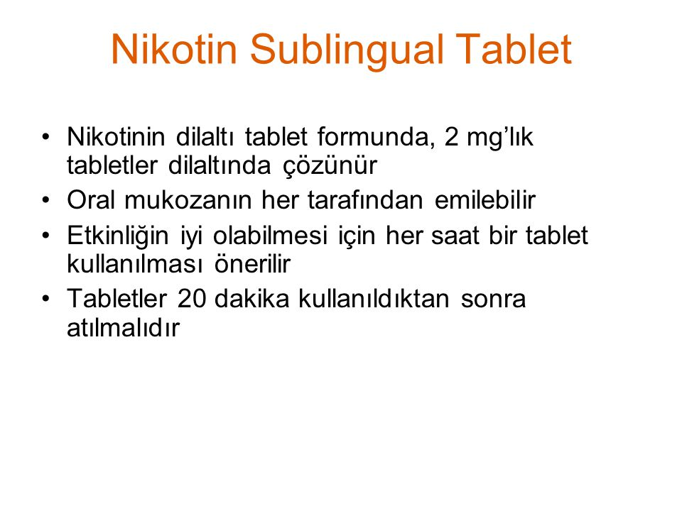 Nikotin Sublingual Tablet