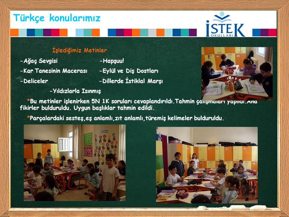 Türkçe konularımız İşlediğimiz Metinler -Ağaç Sevgisi -Hapşuu!