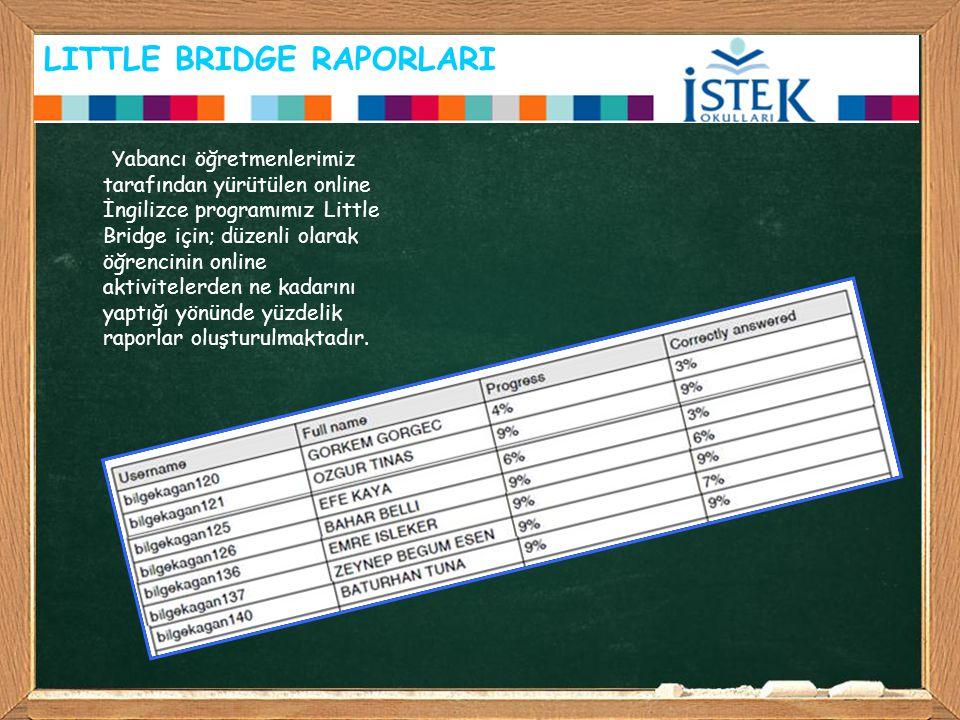 LITTLE BRIDGE RAPORLARI