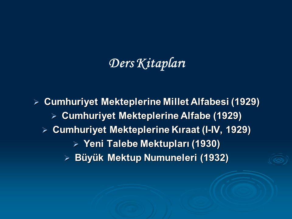 Ders Kitapları Cumhuriyet Mekteplerine Millet Alfabesi (1929)