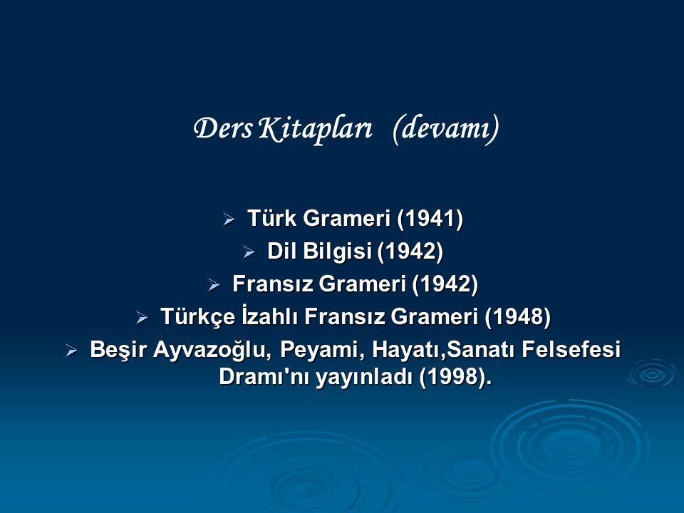 Ders Kitapları (devamı) Türkçe İzahlı Fransız Grameri (1948)