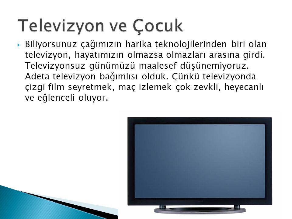 Televizyon ve Çocuk