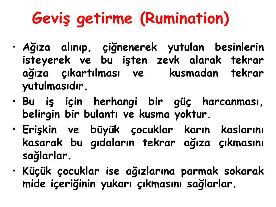 Geviş getirme (Rumination)