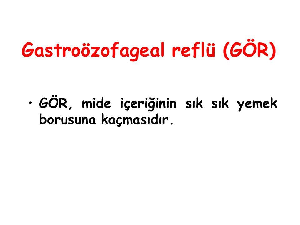 Gastroözofageal reflü (GÖR)