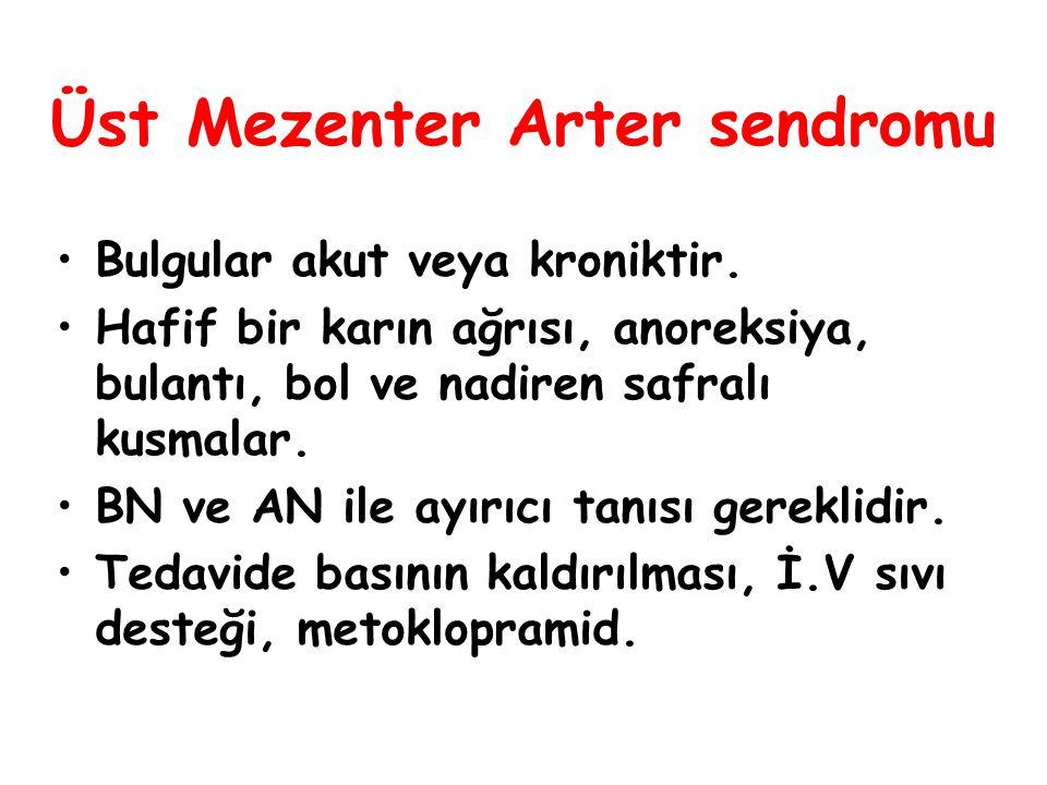 Üst Mezenter Arter sendromu