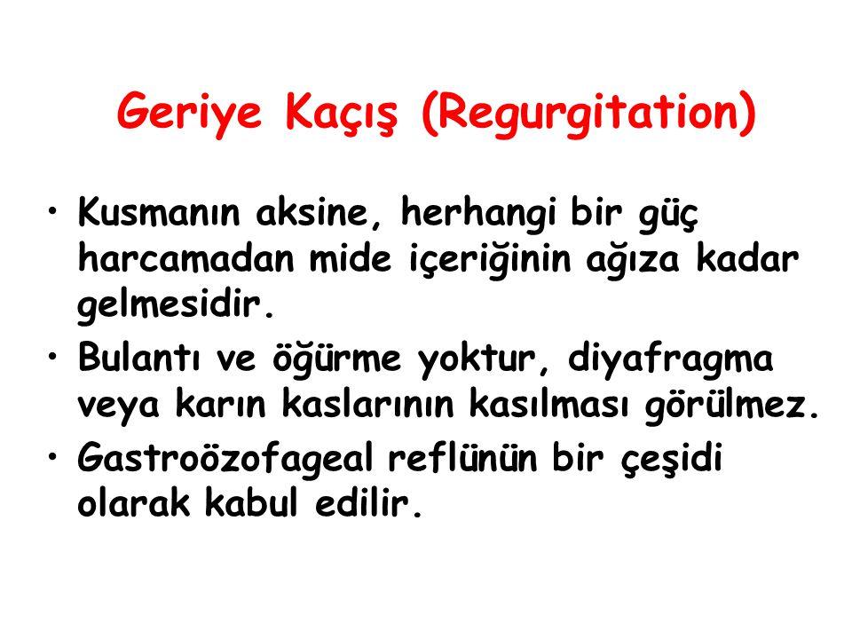 Geriye Kaçış (Regurgitation)