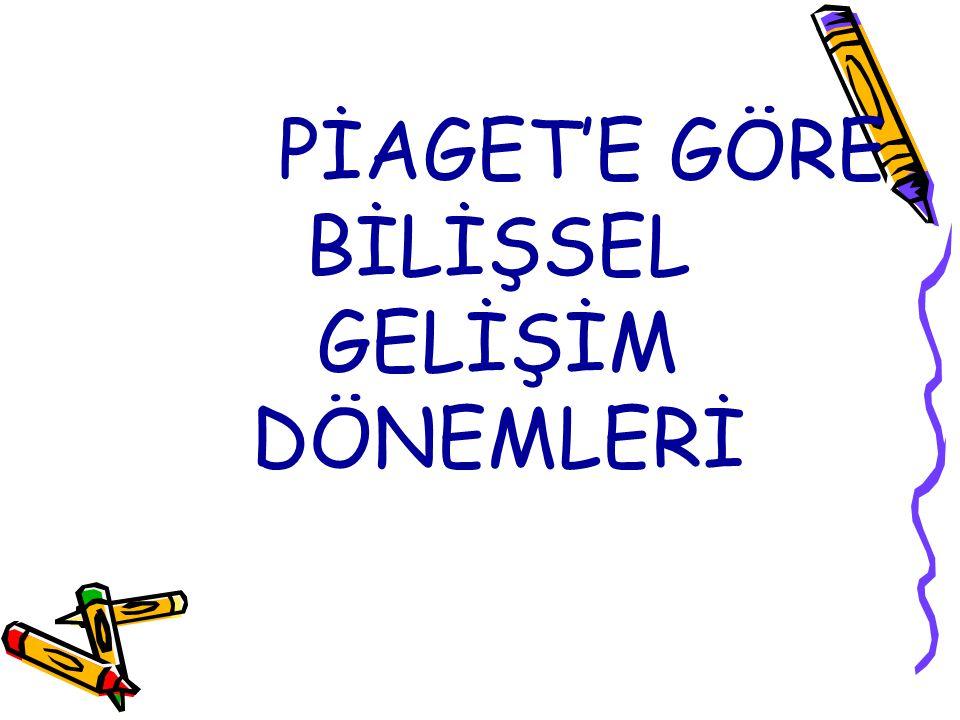 PİAGET'E GÖRE BİLİŞSEL GELİŞİM DÖNEMLERİ