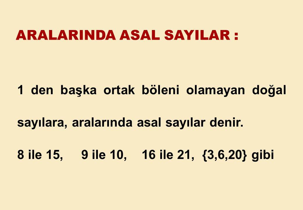 ARALARINDA ASAL SAYILAR :