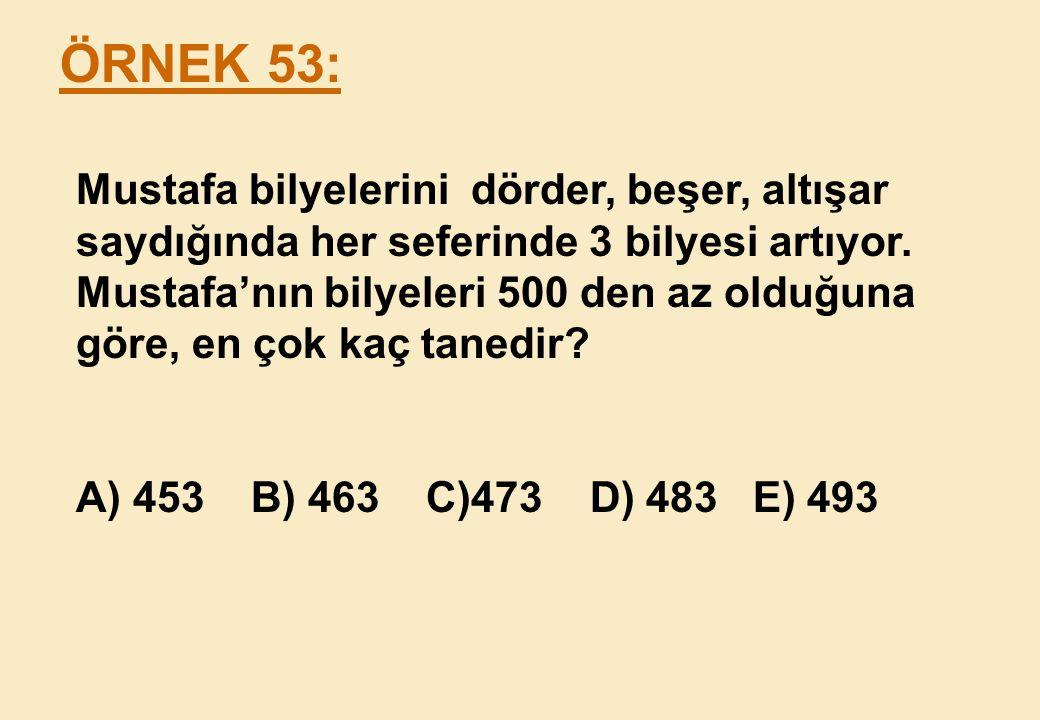 ÖRNEK 53: