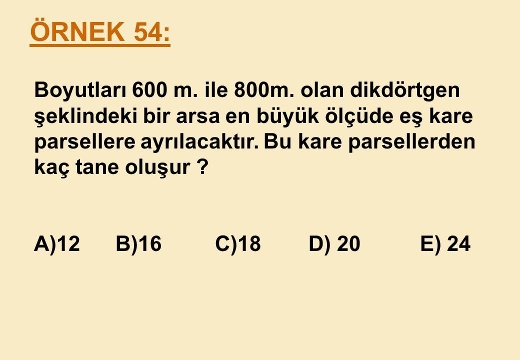 ÖRNEK 54: