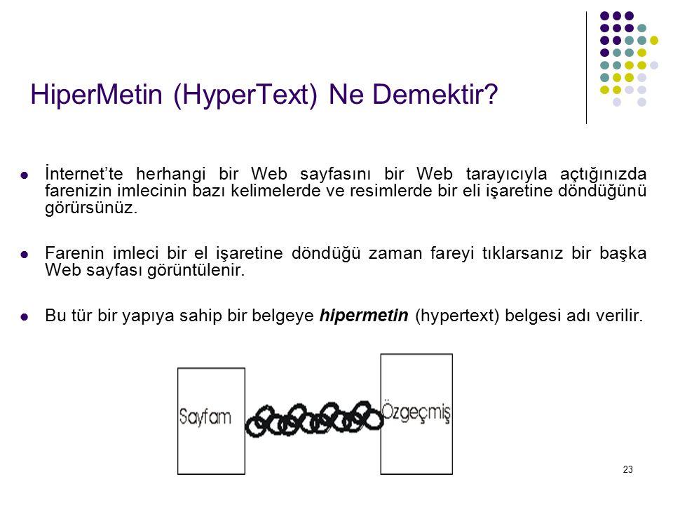 HiperMetin (HyperText) Ne Demektir