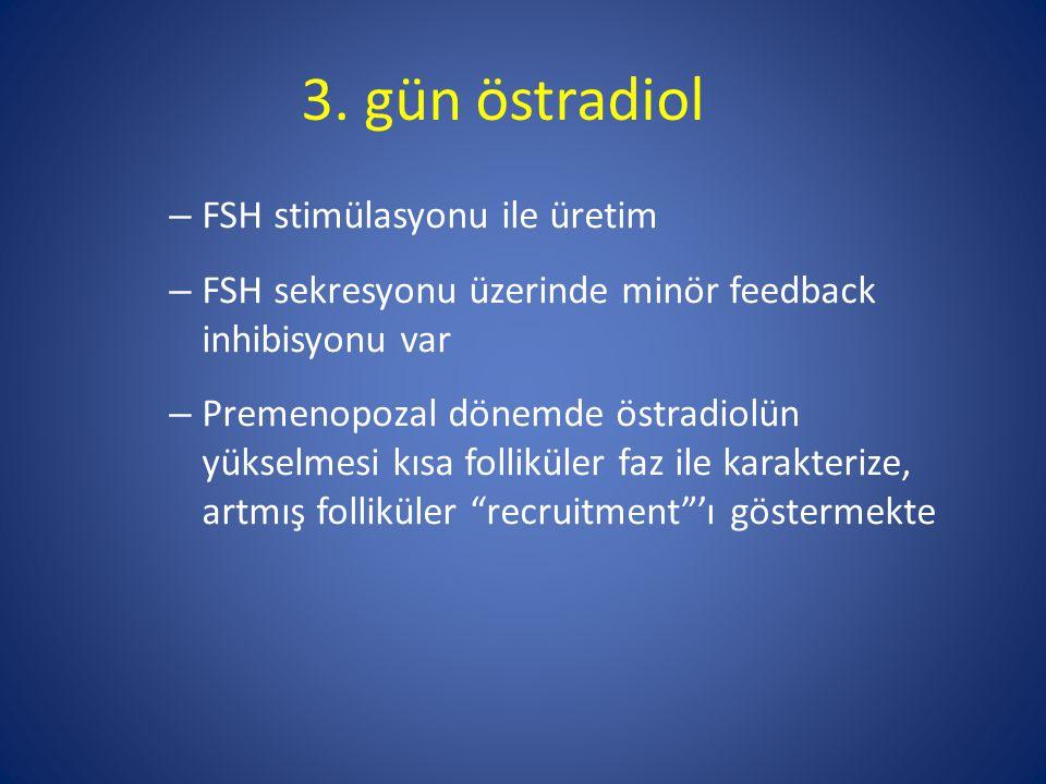 3. gün östradiol FSH stimülasyonu ile üretim