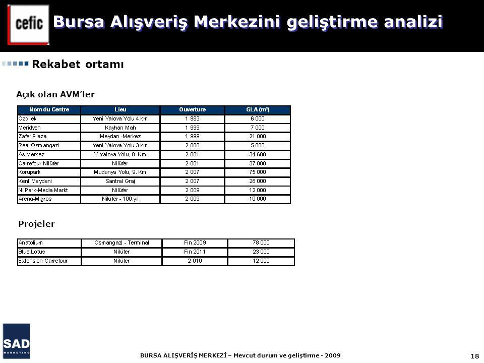 Bursa Alışveriş Merkezini geliştirme analizi